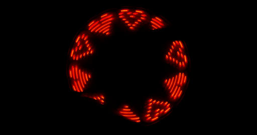 led sign runnig heart Footage