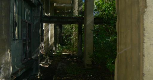 walking inside abandoned building Footage