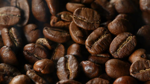 Close up of roasting coffee beans Live Action