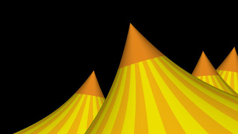 3D Circus Tent Animated Background Stock Video Footage