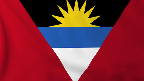 Flag of Antigua Barbuda Animation