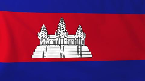 Flag of Cambodia Animation