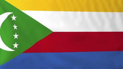 Flag of Comoro Islands Animation