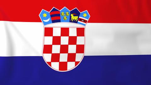 Flag of Croatia Animation