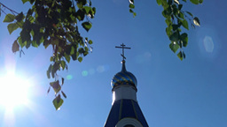 Church Near Krasnodar On A Sunny Morning stock footage