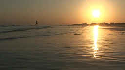 Evening Sunset On The Shore Of The Red Sea In Egypt stock footage