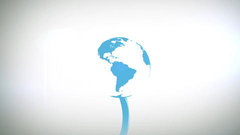 Growing Earth From A Plant stock footage