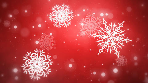 Christmas Flakes Red looped Animation