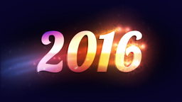 """Colorful Lights reveal """"2016"""" Animation"""