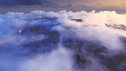 Clouds fly over the Mountains Animation