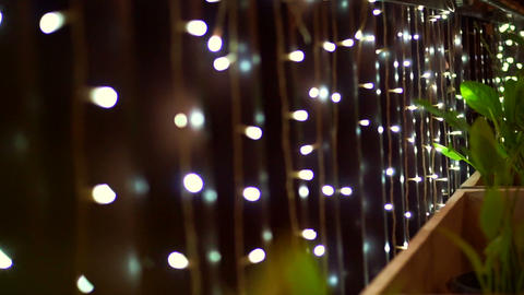 Video holiday season background, Christmas lighting close up twinkling lights fo Footage