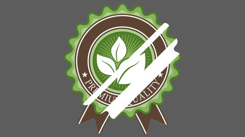 Organic Badge Two CG動画素材
