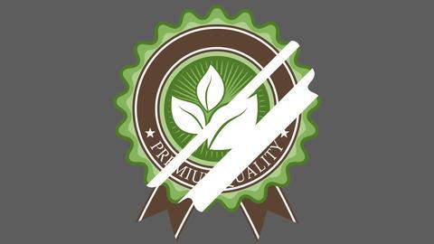 Organic Badge Two Animation