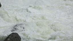 Mountain river flood Footage