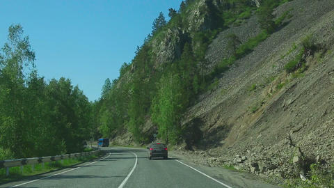 Trip on the mountain road Footage