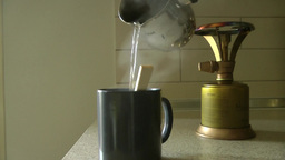 Making A Cup Of Tea stock footage