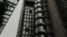 Elevator Movement In The Lloyds Building, London UK stock footage