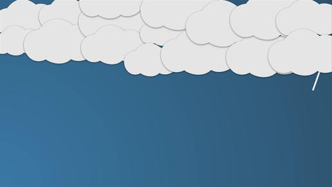 Raining cartoon Clouds with some lighting After Effects Template