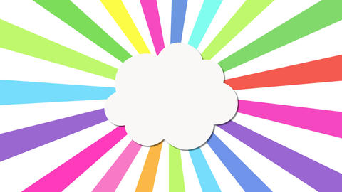Single Cloud popup and emitting different rotating color Rays After Effects Template
