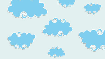 Swirly cartoon Clouds with popup animation After Effects Template