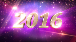 2016 New Year countdown animation 4K Animation