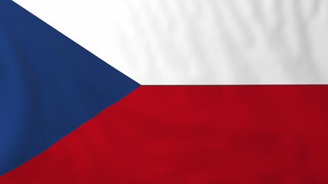 Flag of Czech republic Animation