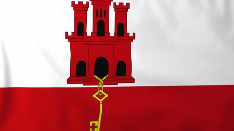Flag of Gibraltar Animation