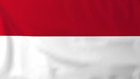 Flag of Indonesia Animation