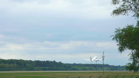 Airplane take-off, slow motion Footage
