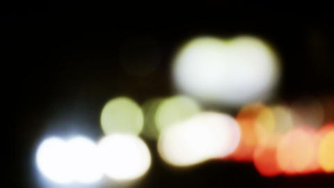 Bokeh From Car Light On The Traffic Road stock footage