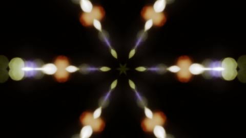 Shiny Bokeh Kaleidoscope Background Stock Video Footage