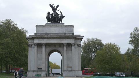 UK Wellington Arch Memorial Footage