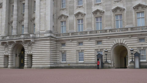Buckingham Palace Entrance View Footage