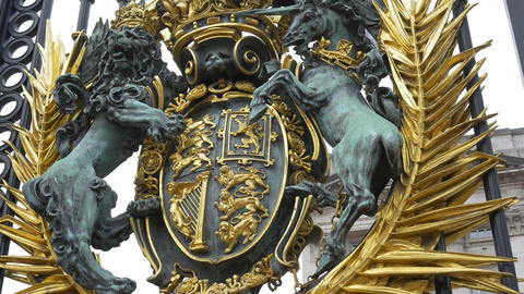 Royal Coat of Arms of United Kingdom Stock Video Footage