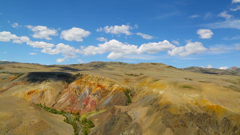 Landscape in the Altai Mountains, tilt view Footage