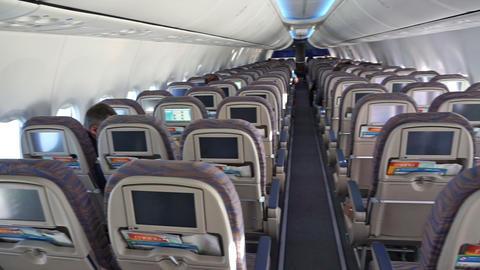 modern airplane interior Footage