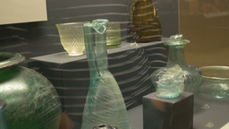 Ancient Roman Glass Vases Footage