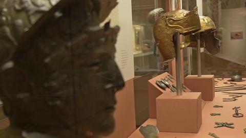 Ancient Roman Helmets Footage