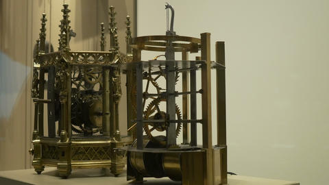 Ancient Clock Mechanism Footage