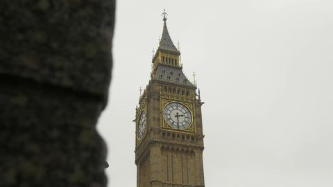 Rainy Big Ben View stock footage