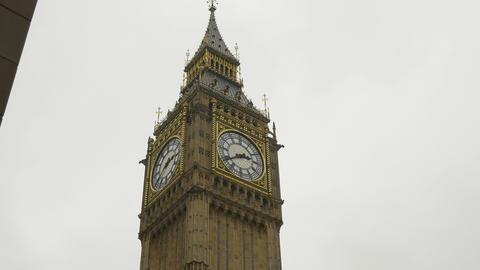 Raining On Big Ben Tower stock footage