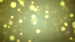 Moving Gloss Particles On Gold Background Animation