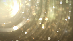 Glitter stars circles on gold background Animation