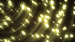 Glitter stars circles on gold background Animation
