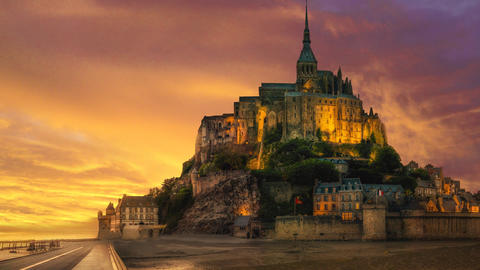 Mont saint michel in france Animation