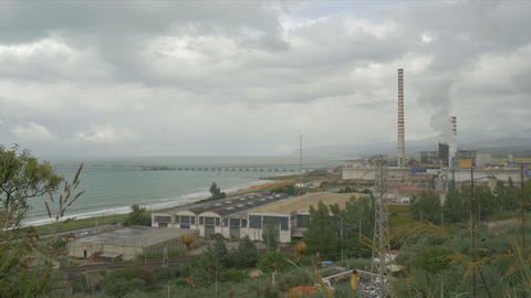 Polluting factory anywhere in Sicily Footage