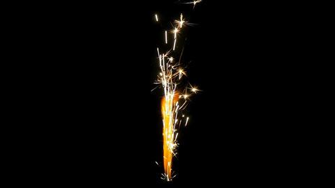 sparkle rocket end slow motion Footage