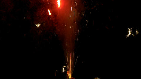 sparkler cracker firework close up slow motion Footage