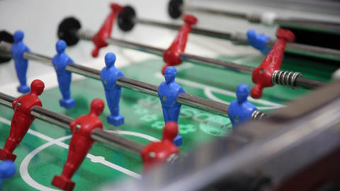 Table Football, Soccer Table Game stock footage