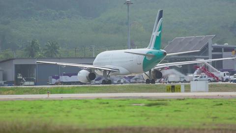 Airplane departure Footage